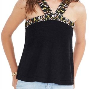 Madewell Embroidered Swing Sweater Tank Size Large